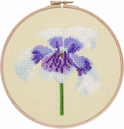 Australian Native Violet cross stitch pattern