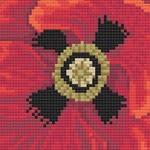 Common Poppy cross stitch pattern