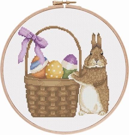 Easter Bunny 2 cross stitch pattern