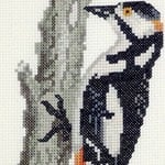 Great Spotted Woodpecker cross stitch pattern