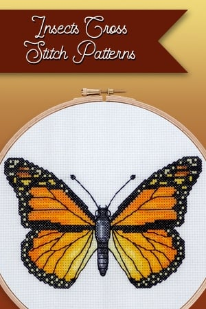 Insects cross stitch patterns