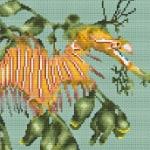 Leafy Seadragon cross stitch pattern