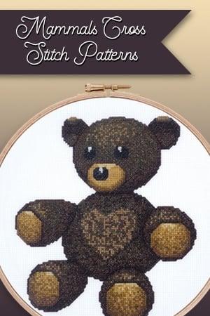 Mammals cross stitch patterns