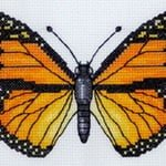 Monarch Butterfly cross stitch pattern