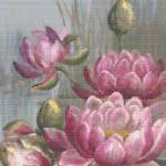 Pink Water Lily cross stitch pattern