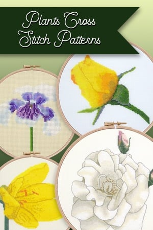 Plants cross stitch patterns