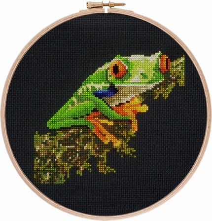 Red-eyed Tree Frog 1 cross stitch pattern