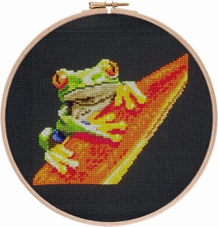 Red-eyed Tree Frog 2 cross stitch pattern