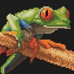 Red-eyed Tree Frog 3 cross stitch pattern