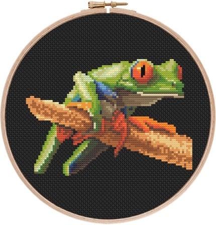 Red-eyed Tree Frog 3 cross stitch pattern