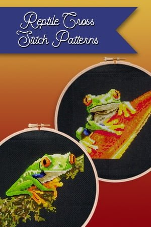 Reptiles cross stitch patterns