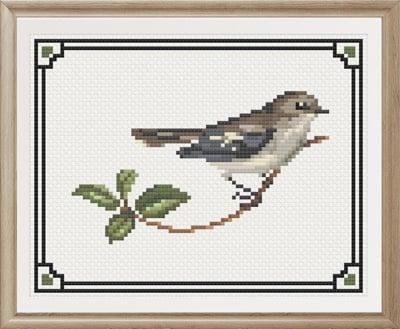 Rose Robin Female cross stitch pattern