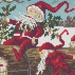 Santa Elves cross stitch pattern